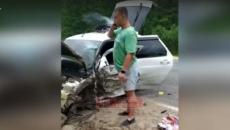 Под Смоленском «невменяемого» полицейского на месте аварии сняли на видео