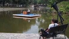 В Смоленске состоялось открытие плавучей сцены в «Лопатинском саду»