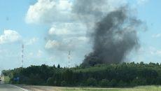 Под Смоленском поджигатели покрышек спровоцировали масштабное возгорание