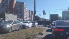 В Смоленске сломавшиеся светофоры создали огромные «пробки» на перекрёстках