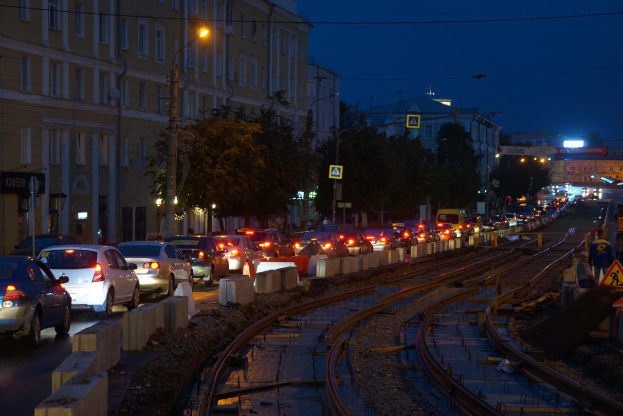 В Смоленске проспект Гагарина сузился до двух полос