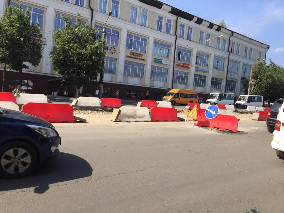 ремонт трамвайных путей 13.06.2019 на проспекте Гагарина в Смоленске_1