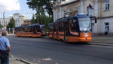 В Смоленске трамвай-«челнок» сошёл с рельсов