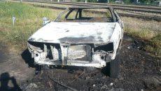 Под Смоленском сгорел «Мерседес» бизнес-класса