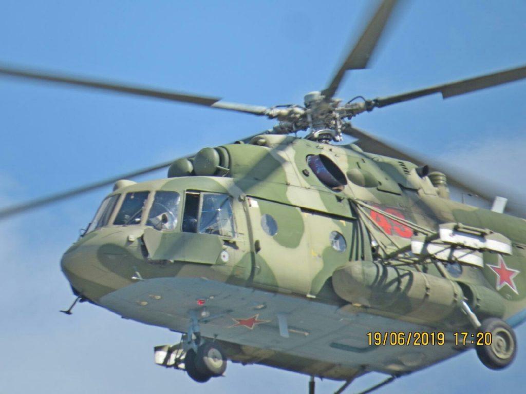 вертолёт Ми-8 над САЭС (фото vk.com complaint_book_smolensk)