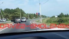 В Смоленске ДТП с универсалами создало затор на окружной автодороге