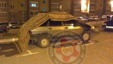 В Смоленске автовладелец необычным способом защитил свою «девятку»