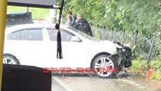 Две машины разбиты в результате жесткой аварии в центре Смоленска