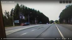 Жёсткая авария под Смоленском попала на видео