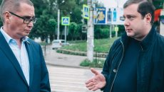 Алексей Островский проверил ход проведения дорожных ремонтов в Смоленске