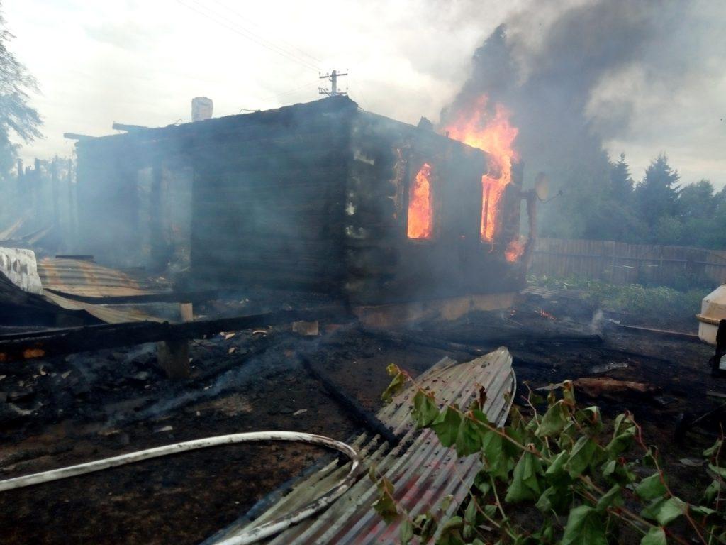 пожар дом сгорел