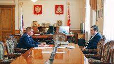 Мэр Смоленска отчитался перед Алексеем Островским о ходе ремонта дорог в городе
