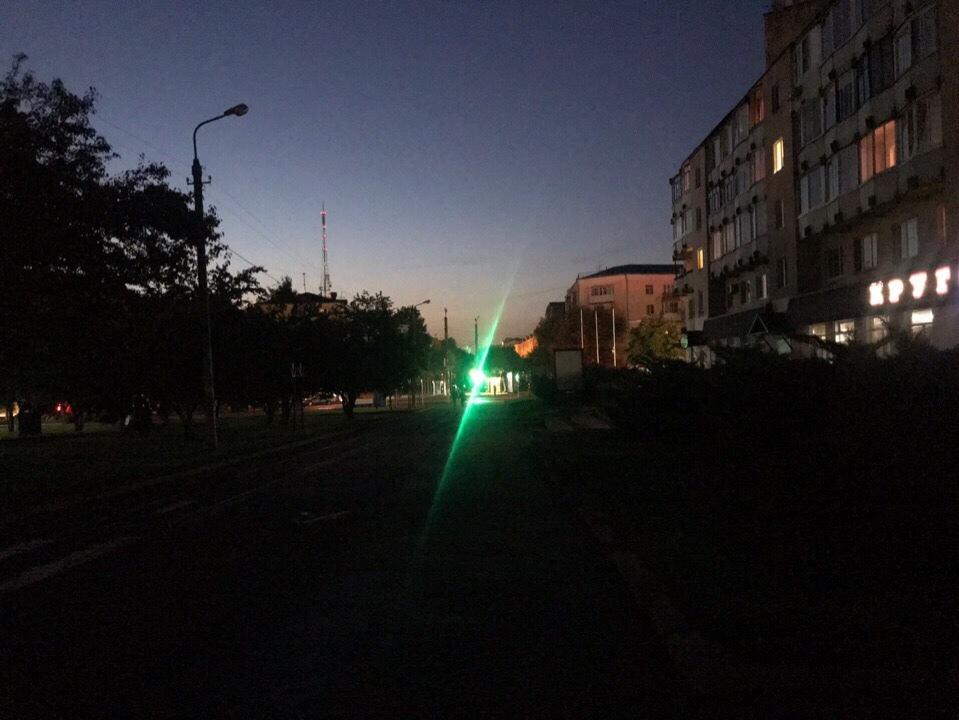 улица Октябрьской революции, фонари, освещение (фото vk.com black.smolensk)