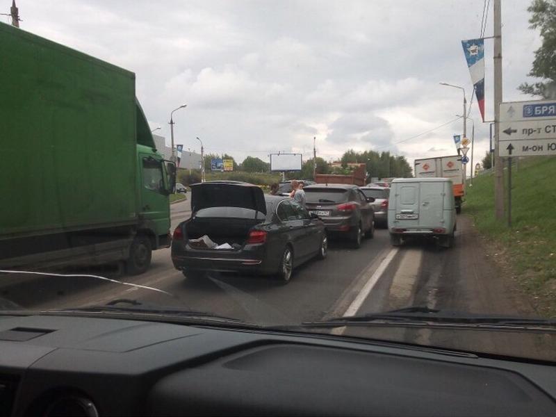 ДТП 14.08.2019, Рославльское шоссе, BMW, Hyudai ix35 (фото vk.com drive2_smolensk)