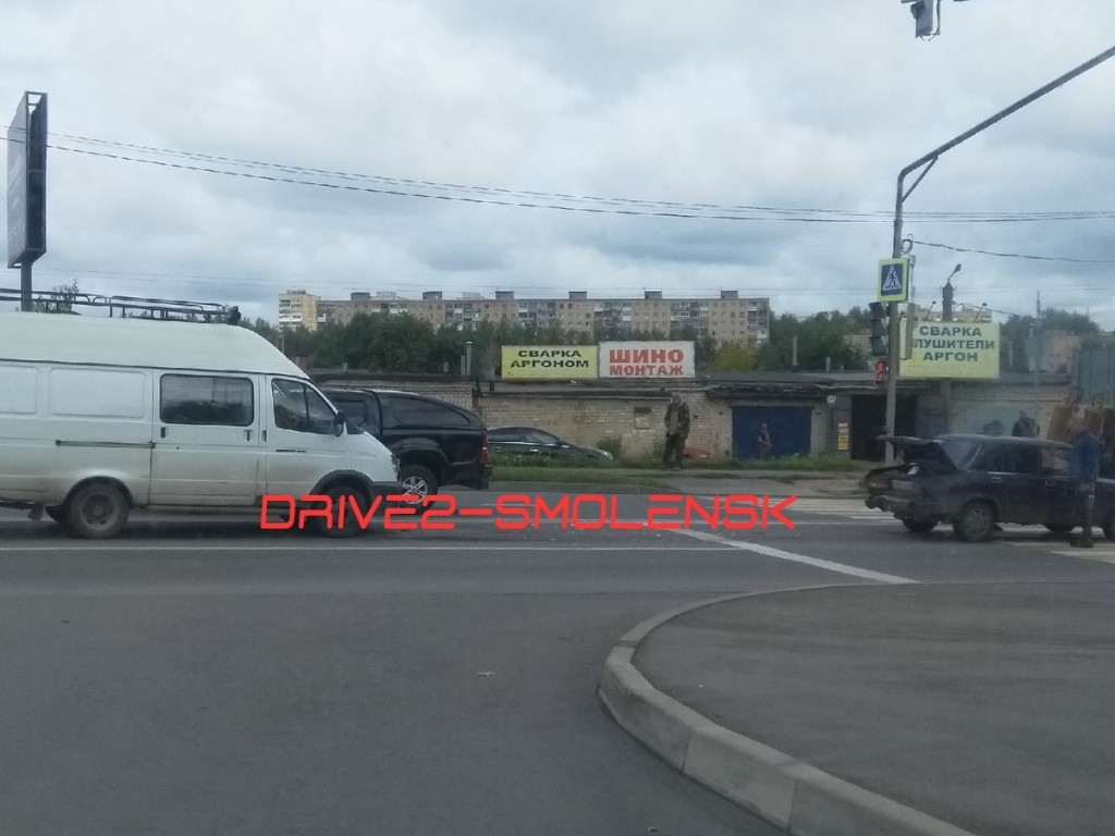 ДТП 15.08.2019, Газель, фургон, ВАЗ-2107, проспект Строителей, пешеходный переход
