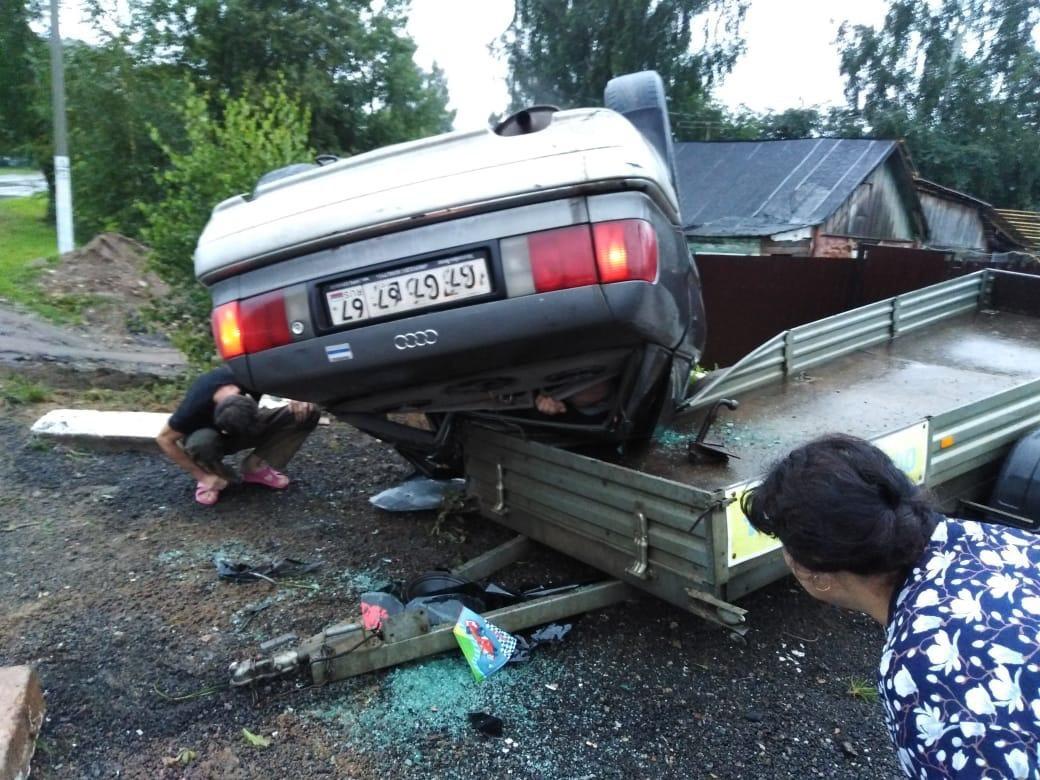 ДТП 18.08.2019, Сафоново, Audi, прицеп_1 (фото vk.com region06767)