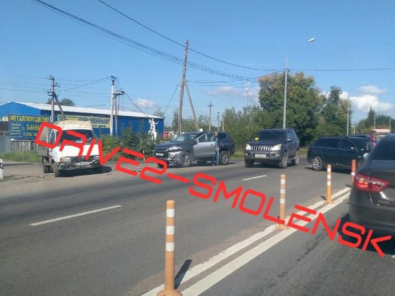 ДТП 23.08.2019, Mitsubishi, Audi, Рославльское шоссе_1
