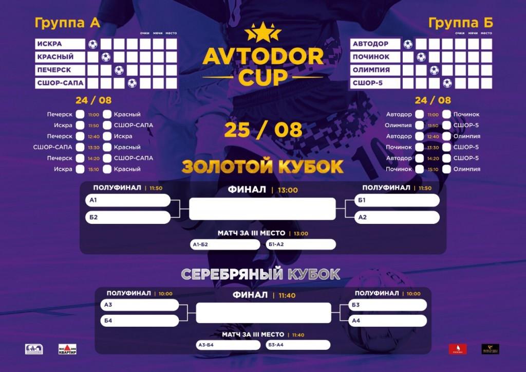 календарь игр Avtodor Cup IV 24-25.08.2019