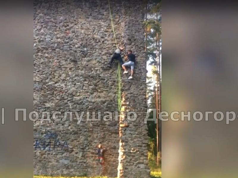 спасение нетрезвого на скалодроме в Десногорске