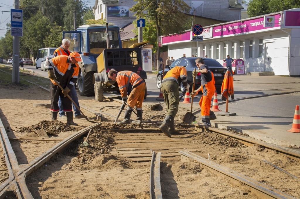 трамвайные пути ремонт
