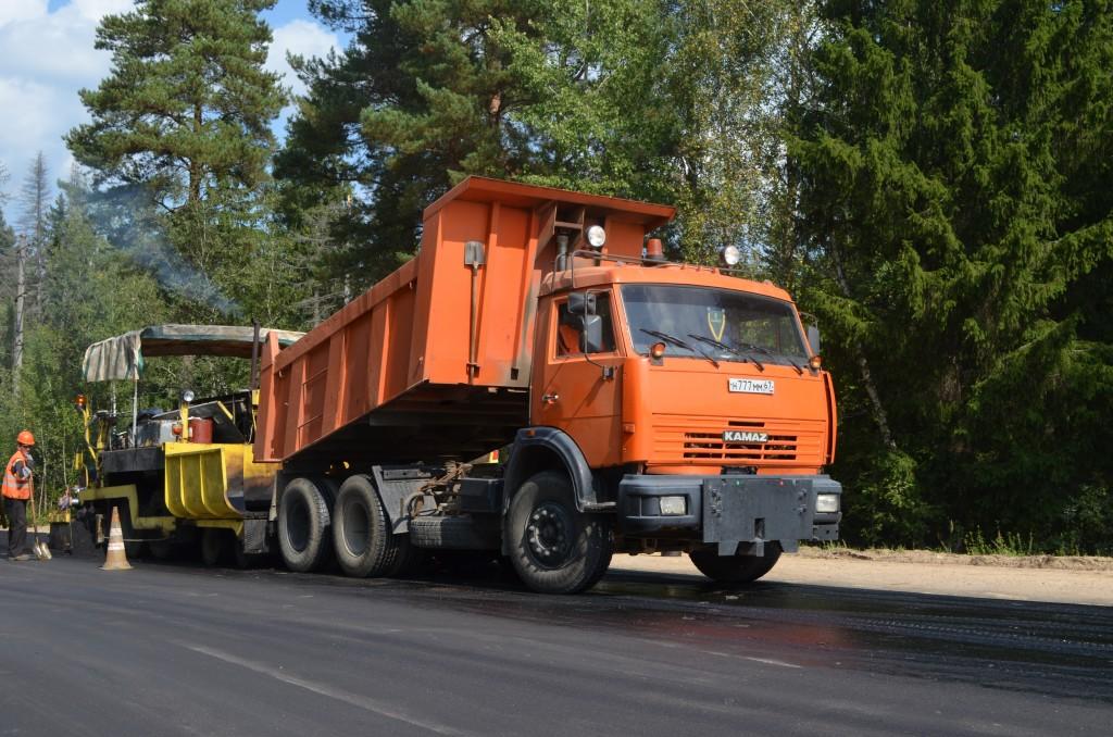 Смоленскавтодор, Ярцево-Засижье, ремонт дороги, укладка асфальта