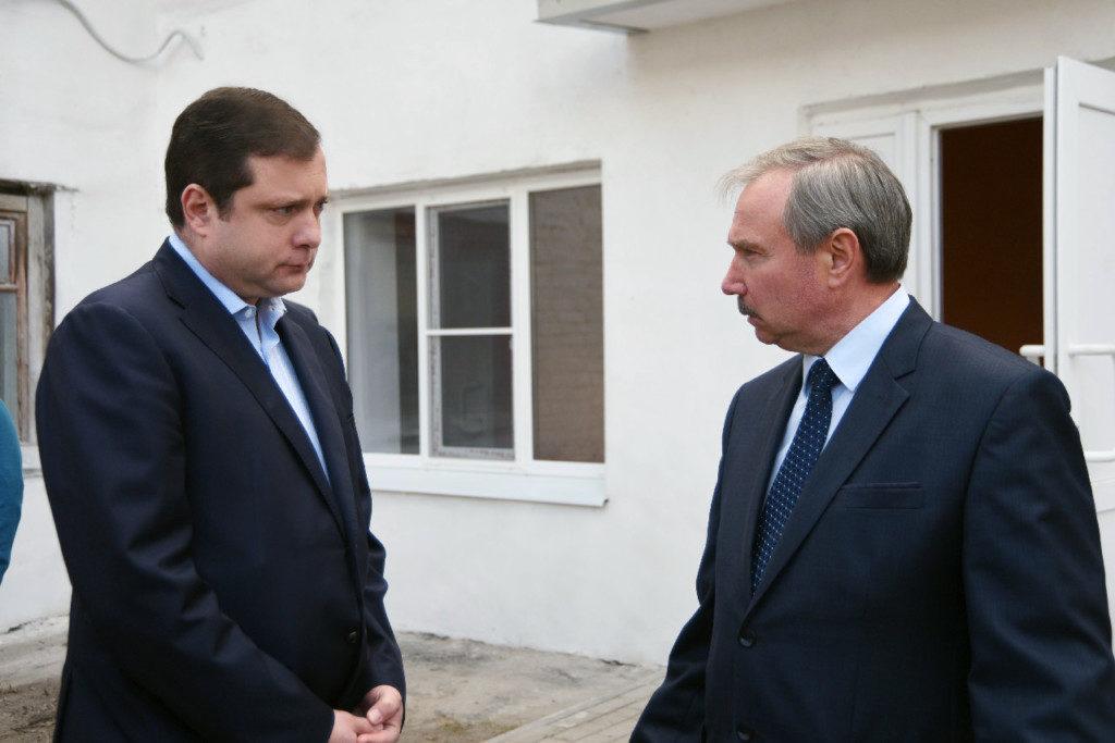 Алексей Островский, Валерий Новиков, Рославль (фото admin-smolensk.ru)