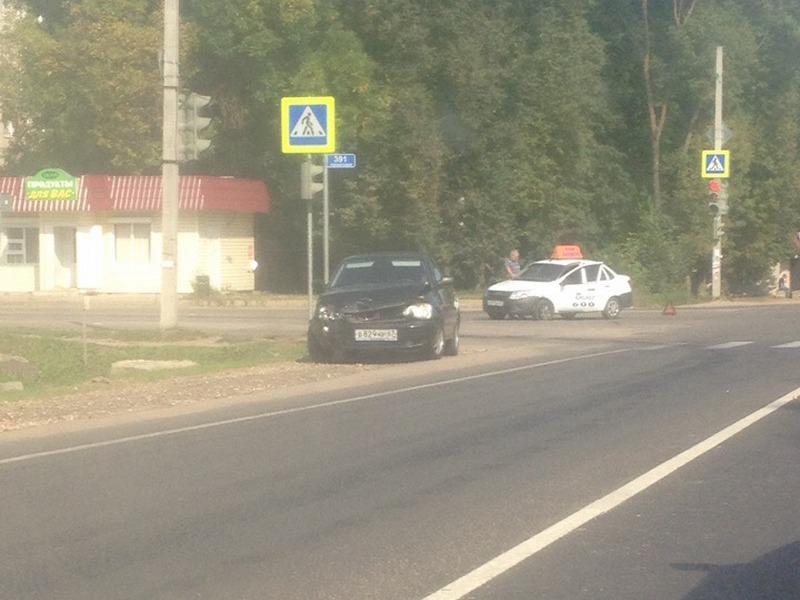 ДТП 09.09.2019, Рославль, Варшавское шоссе, такси (фото vk.com id390098519)