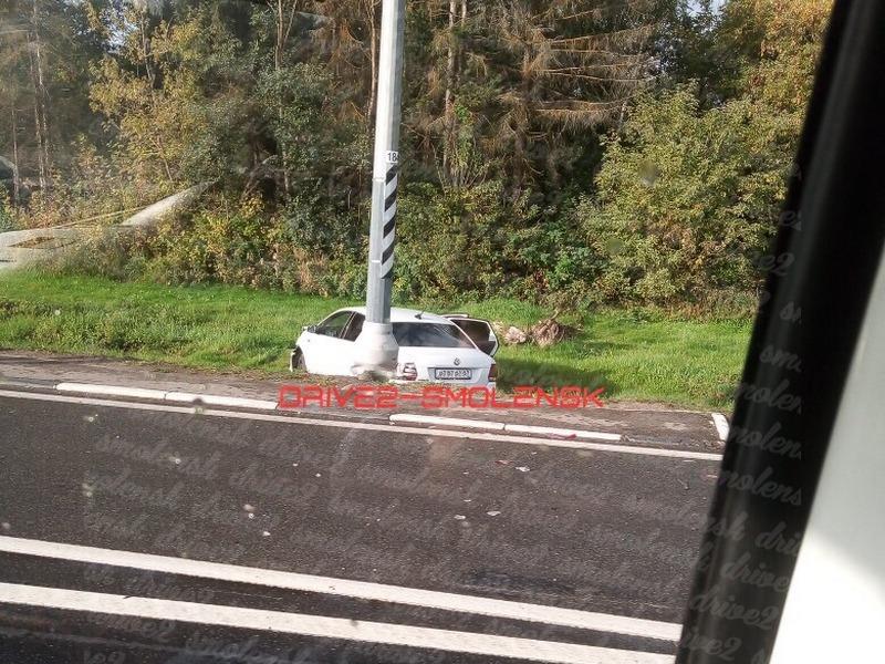 ДТП 16.09.2019, Volkswagen Polo, Рославльское шоссе, кювет_1