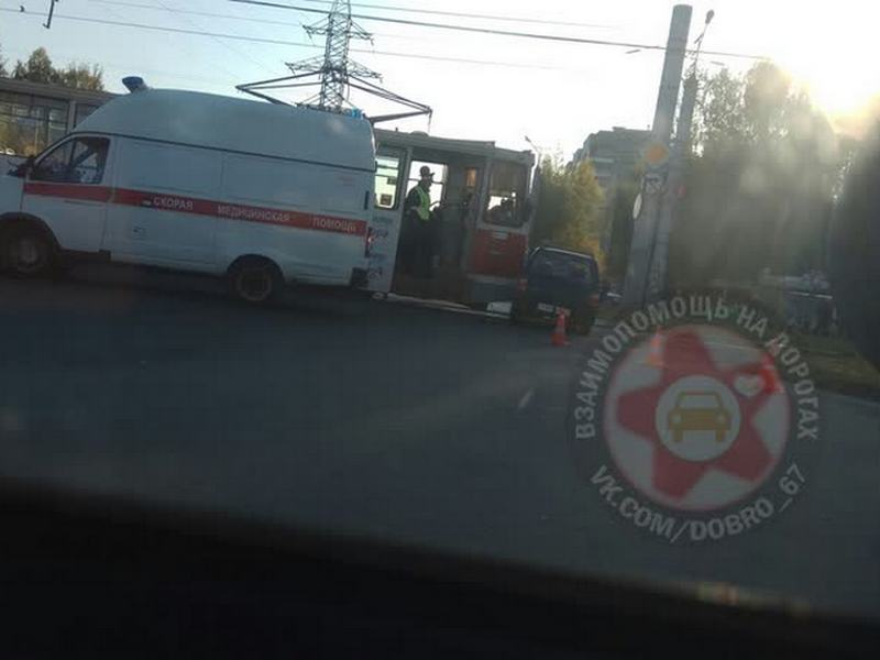 ДТП 26.09.2019, улица Рыленкова, трамвай, Ока