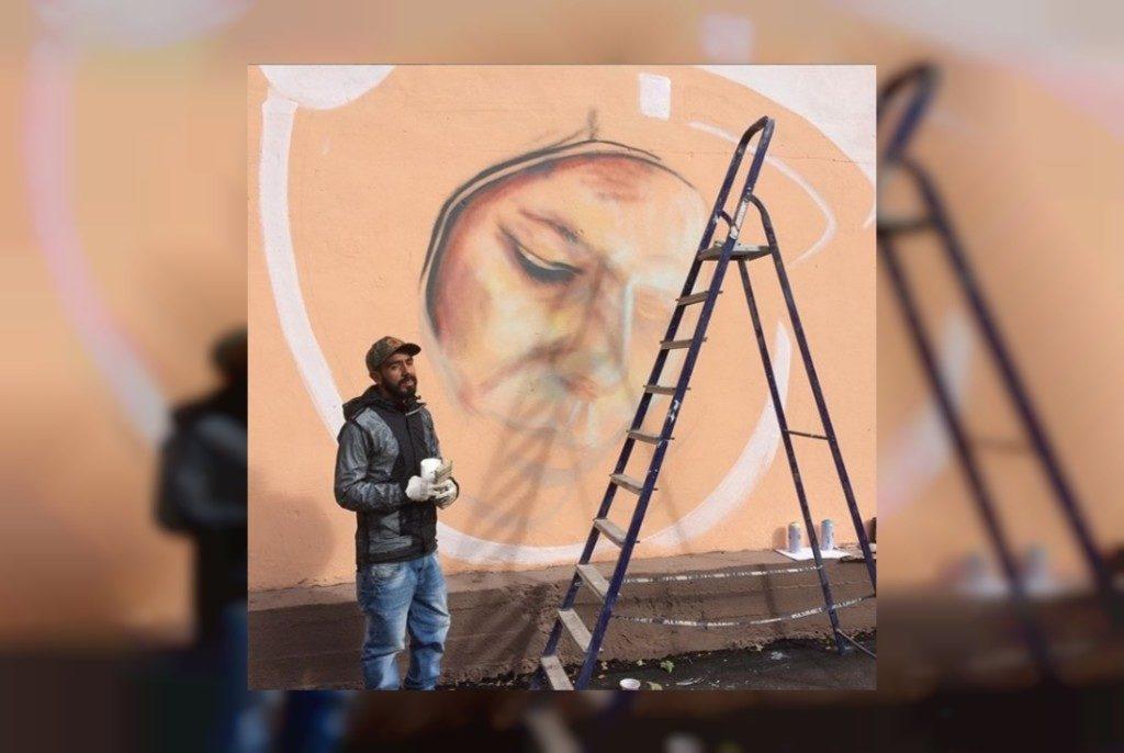 граффити Гагарин (фото vk.com official_smolensk)