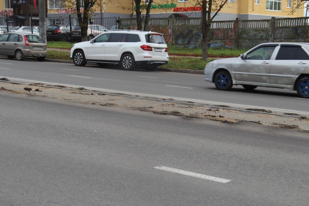 разбитые трамвайные пути 24.09.2019 на улице Шевченко_1