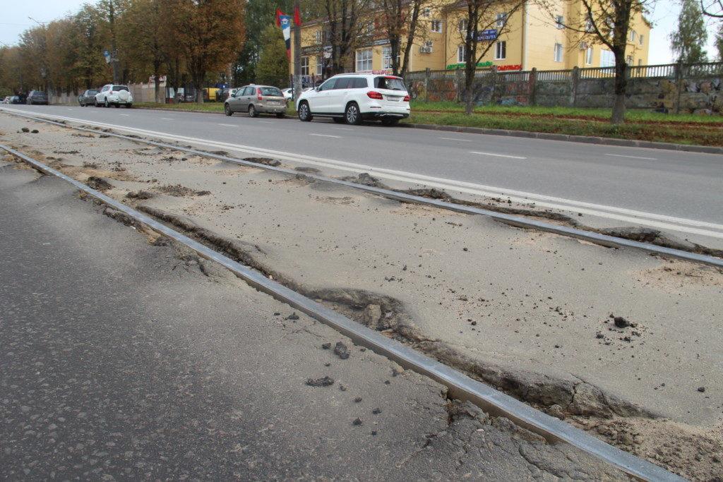 разбитые трамвайные пути 24.09.2019 на улице Шевченко_3