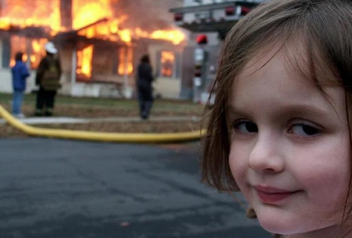 девочка пожар