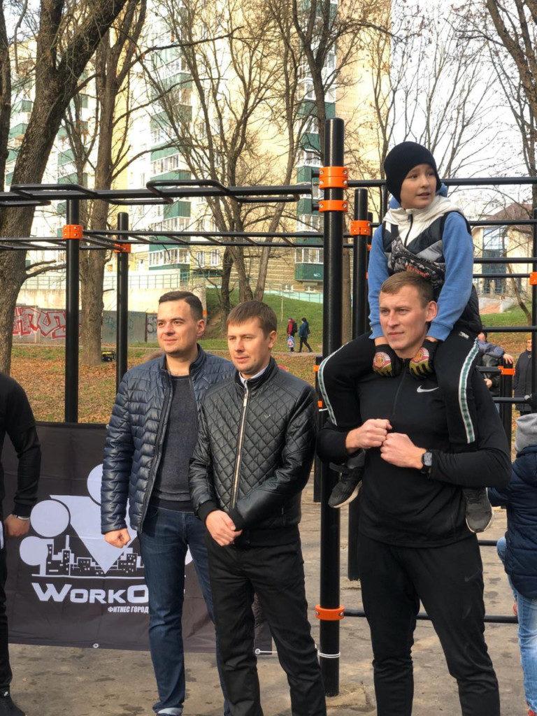 открытие воркаут-площадки, парк 1100-летия Смоленска