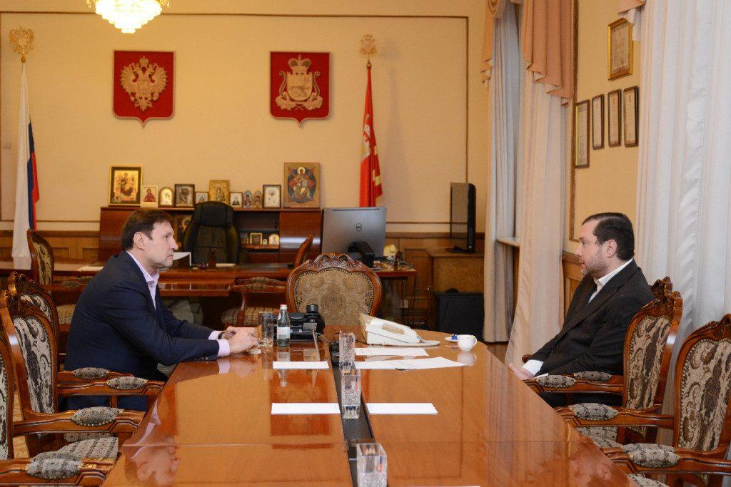 Алексей Островский обсудил реализацию крупного инвестпроекта с президентом группы компаний «Балтийский берег»