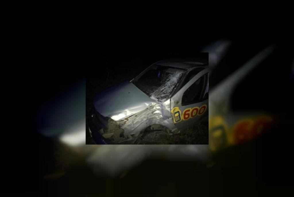 Есть пострадавшие. Под Смоленском такси «вылетело» с дороги