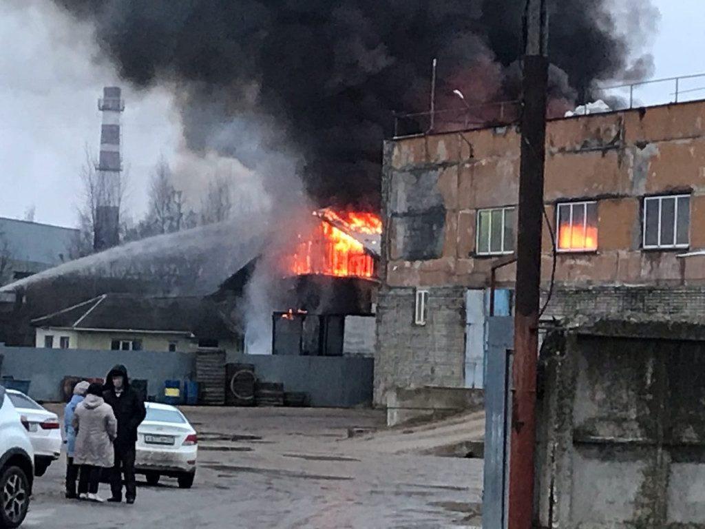 пожар 13.12.2019, Сафоново (фото vk.com gorlanov1975)