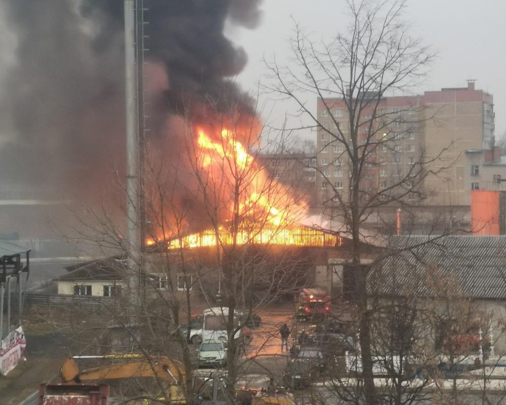 пожар 13.12.2019, Сафоново (фото vk.com serega5121)