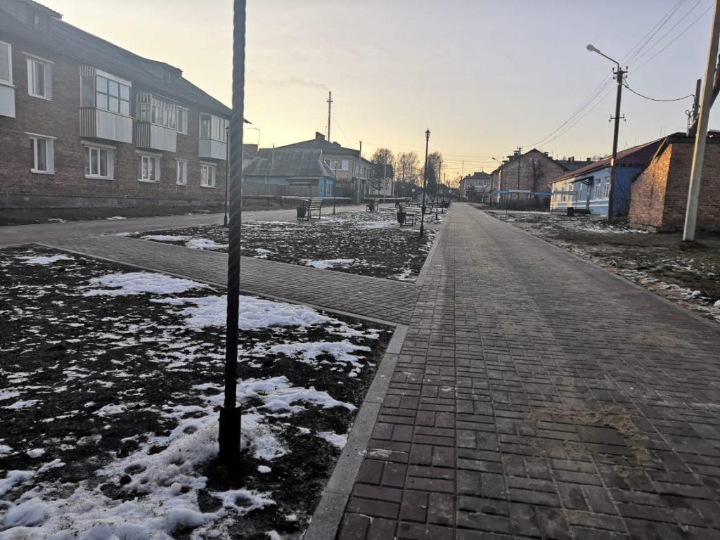 Шумячи, улица Заводская, аллея, Формирование комфортной городской среды_1