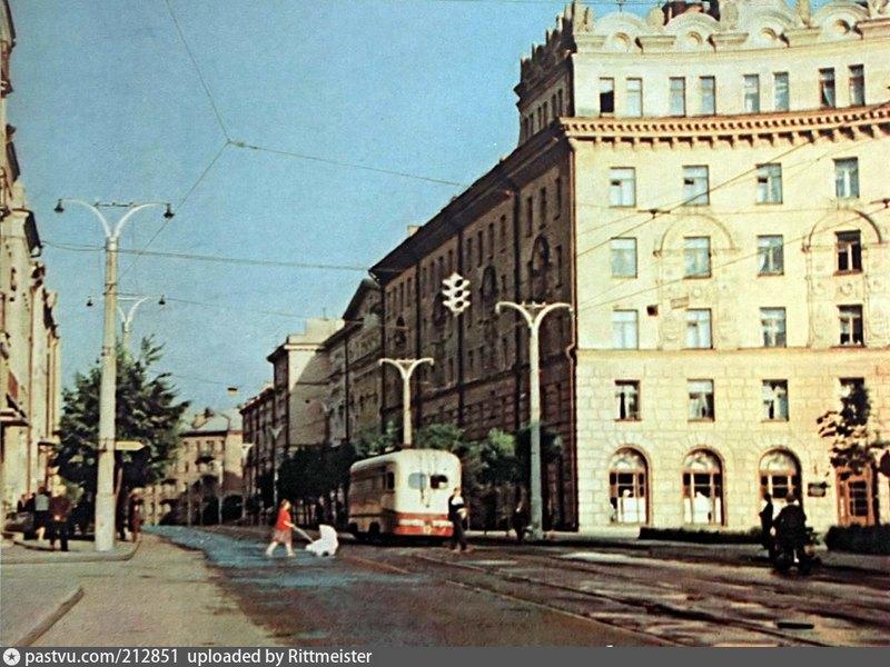 улица Дзержинского, 1962, трамвай