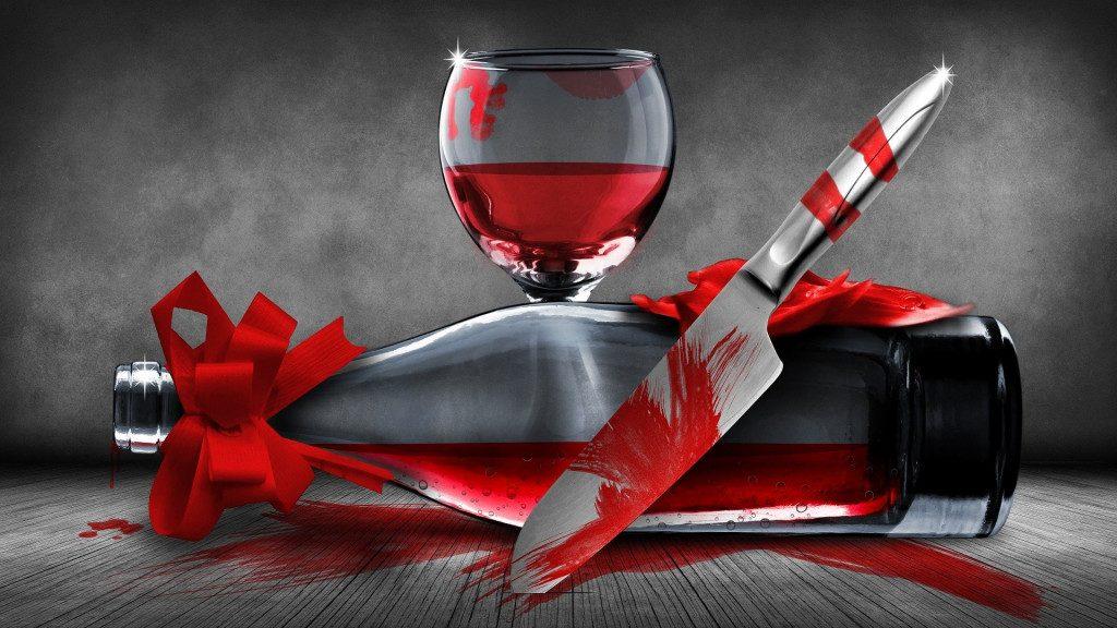 алкоголь, нож, убийство, резаные колотые раны