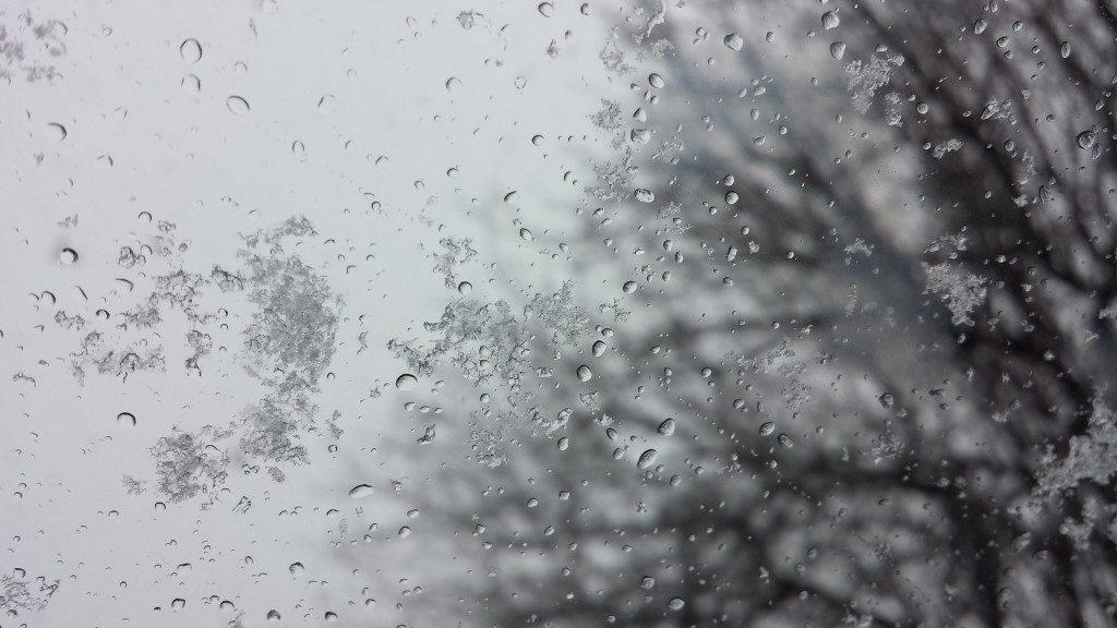 зима, мокрый снег, морось, пасмурная погода