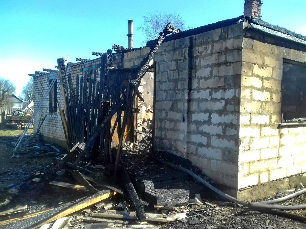 сгоревший дом в Заборье