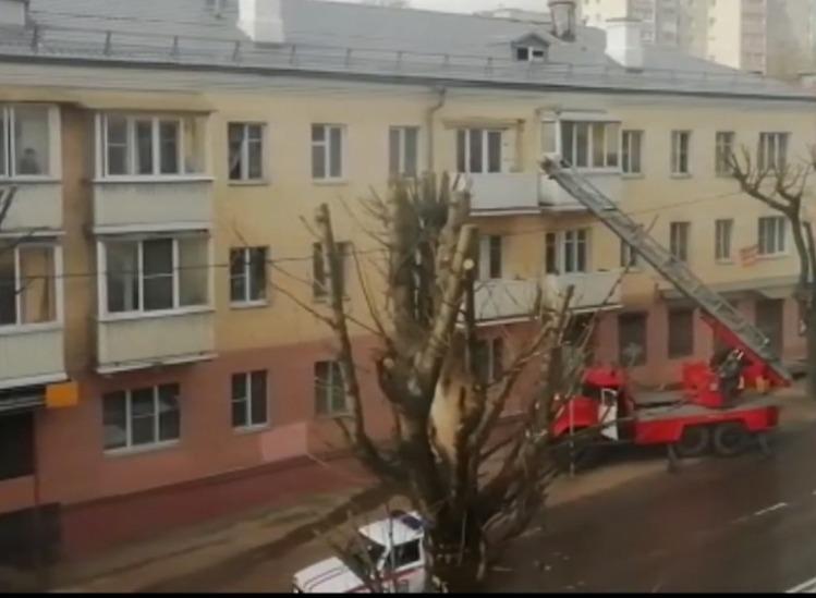пожар на Фрунзе Смоленск