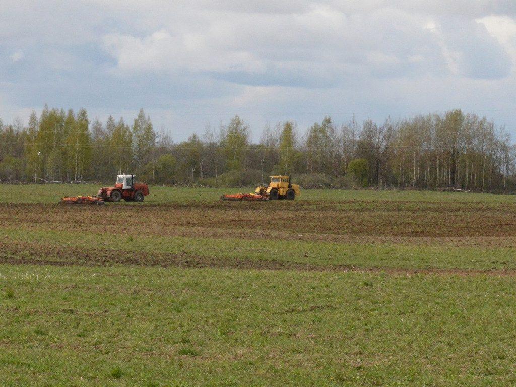 боронование, весенние полевые работы, посевная кампания (фото admin-smolensk.ru)