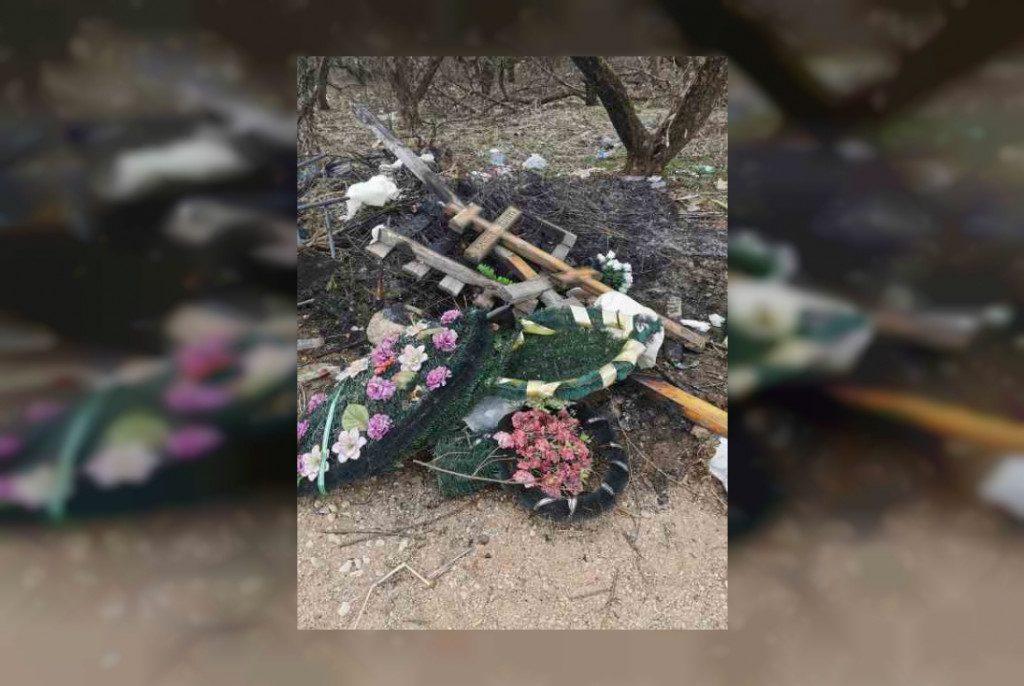 кресты могила осквернение