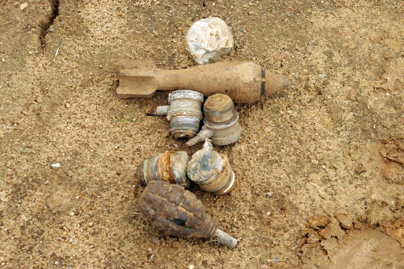 мины и граната
