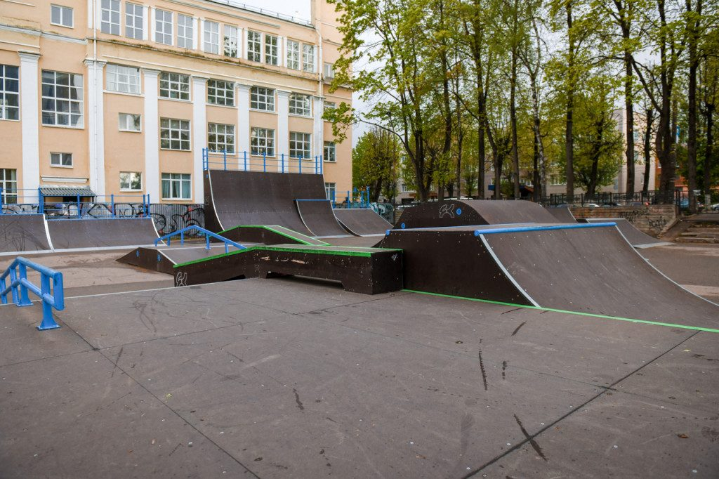 скейт-парк, проспект Гагарина, СГАФКСТ, май 2020 (фото admin-smolensk.ru)