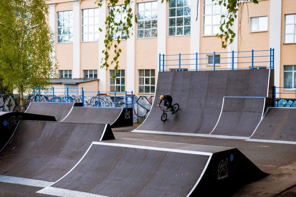 скейт-парк, проспект Гагарина, СГАФКСТ, велоэкстрим, май 2020 (фото admin-smolensk.ru)