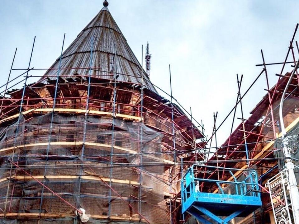 Громовая башня Смоленской крепостной стены, реконструкция (фото vk.com ostrovskylive1)